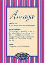 Origen y significado de Amaya