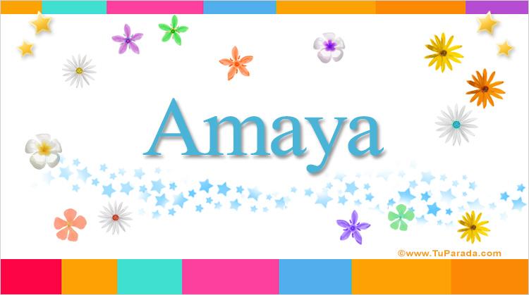 Amaya, imagen de Amaya