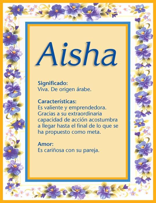 Aisha, imagen de Aisha