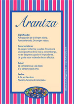 Origen y significado de Arantza
