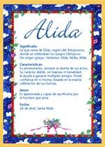 Nombre Alida