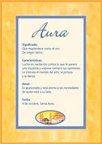 Origen y significado de Aura