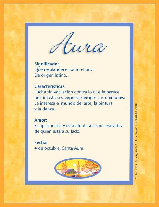 Aura, imagen de Aura