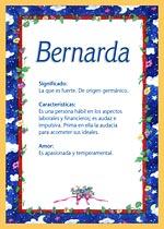 Origen y significado de Bernarda