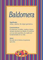 Nombre Baldomera
