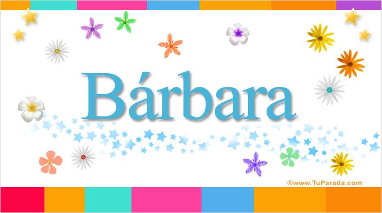 Bárbara, imagen de Bárbara