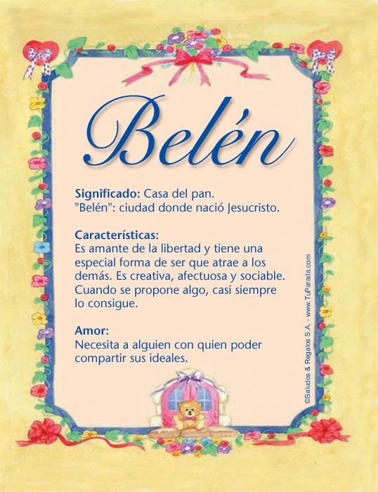 Belén, imagen de Belén