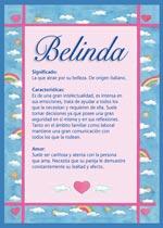 Origen y significado de Belinda