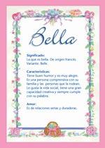 Origen y significado de Bella