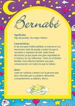 Nombre Bernabé
