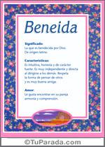 Nombre Beneida