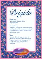 Nombre Brígida