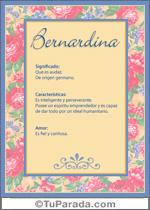 Nombre Bernardina
