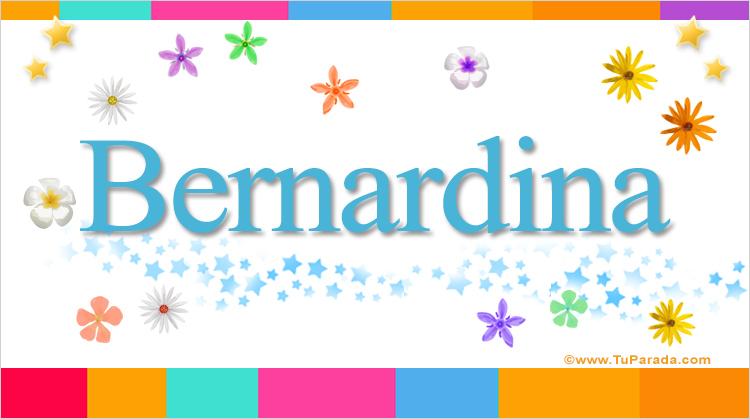 Bernardina, imagen de Bernardina