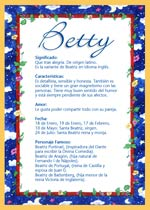 Nombre Betty