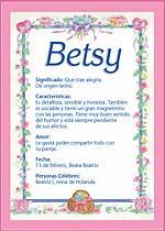Nombre Betsy