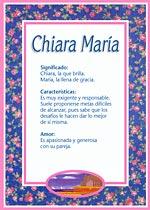 Nombre Chiara María