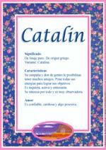 Nombre Catalin
