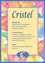 Origen y significado de Cristel