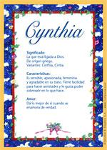 Nombre Cynthia