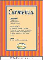 Nombre Carmenza