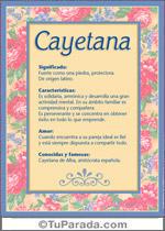 Nombre Cayetana