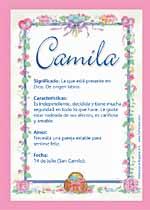 Origen y significado de Camila