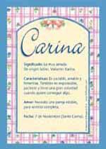 Nombre Carina