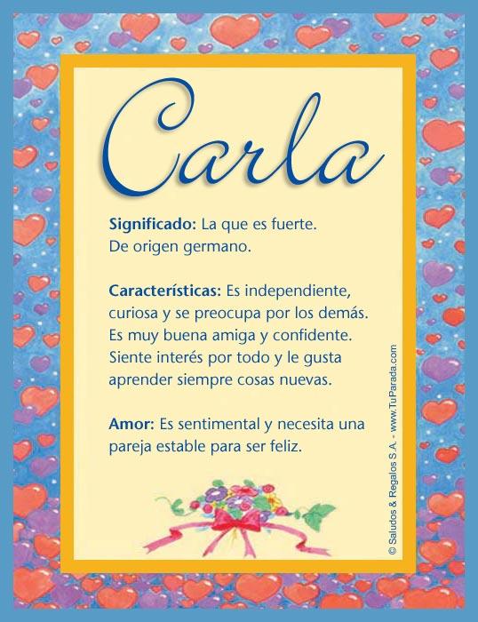Carla, imagen de Carla