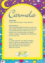 Nombre Carmela