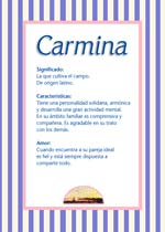 Nombre Carmina