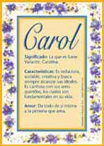 Nombre Carol