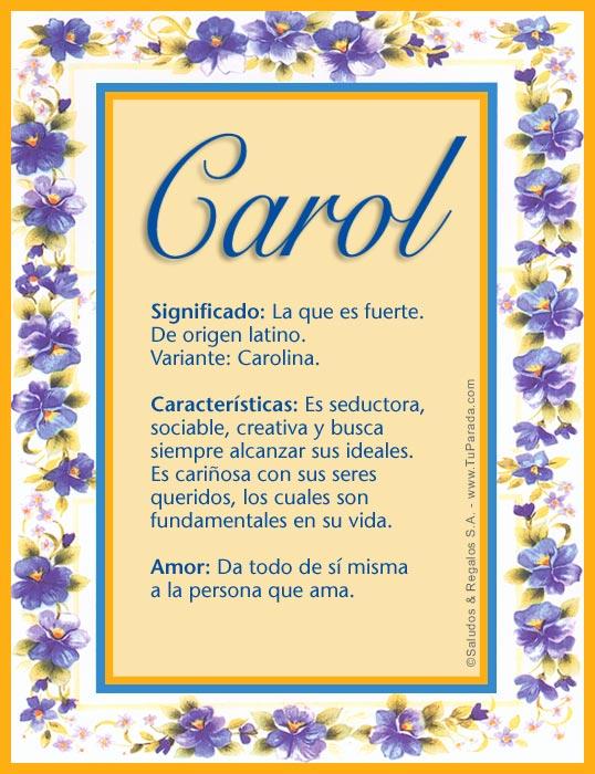 Carol, imagen de Carol