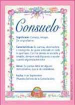 Nombre Consuelo