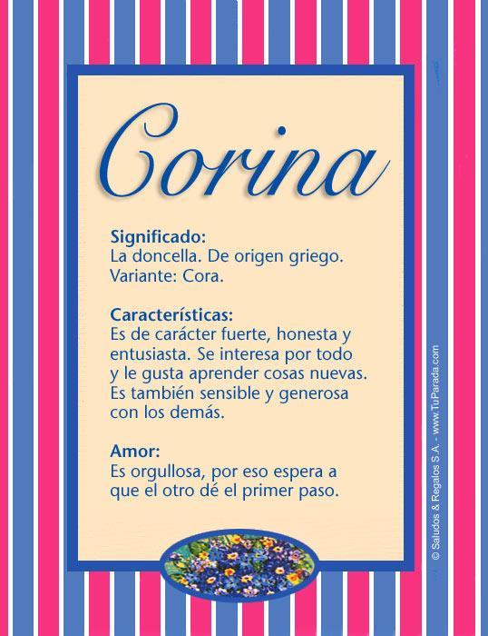 Corina, imagen de Corina