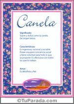 Nombre Canela