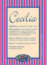 Origen y significado de Cecilia