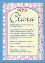 Nombre Clara