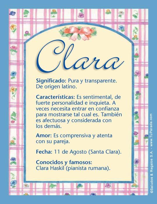 Clara, imagen de Clara
