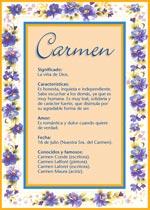 Nombre Carmen