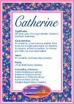 Nombre Catherine