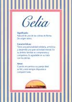 Nombre Celia