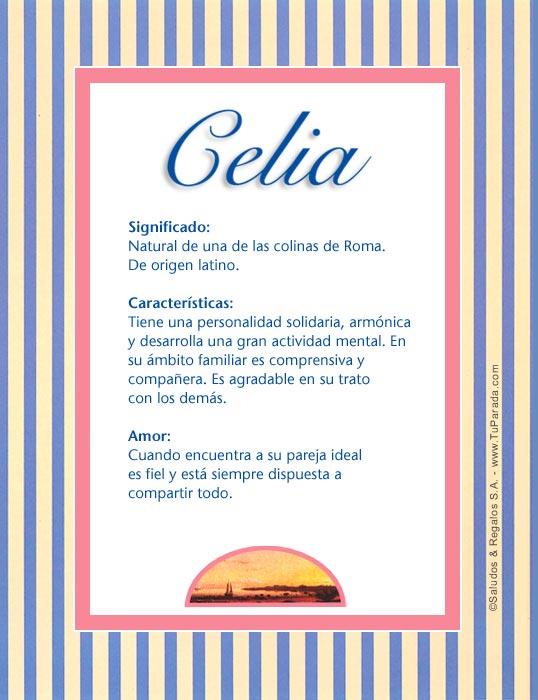 Celia, imagen de Celia