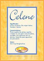 Nombre Celene