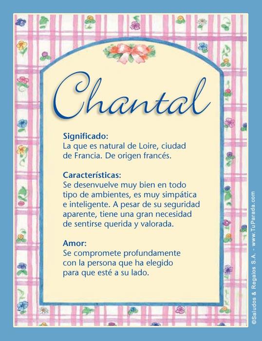 Chantal, imagen de Chantal