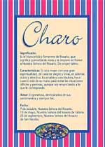 Nombre Charo
