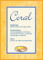 Origen y significado de Coral