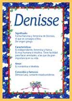 Nombre Denisse