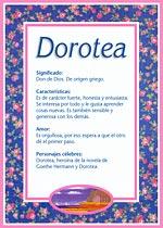 Nombre Dorotea