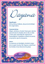 Nombre Dayana